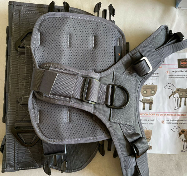 ICEFANG Tactical Dog Harness Hook and Loop Panels for Patch Working Dog Medium $24.99
