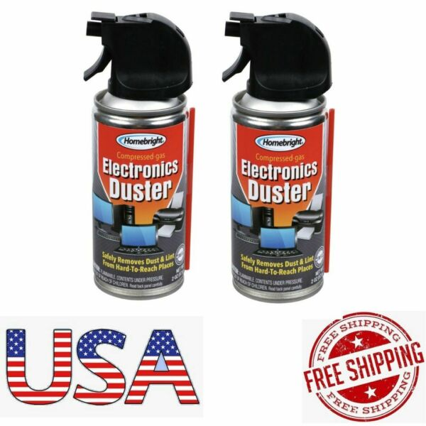 2 X Homebright Compressed Gas Air Dusters 2 oz each Electronics Computers home $8.99