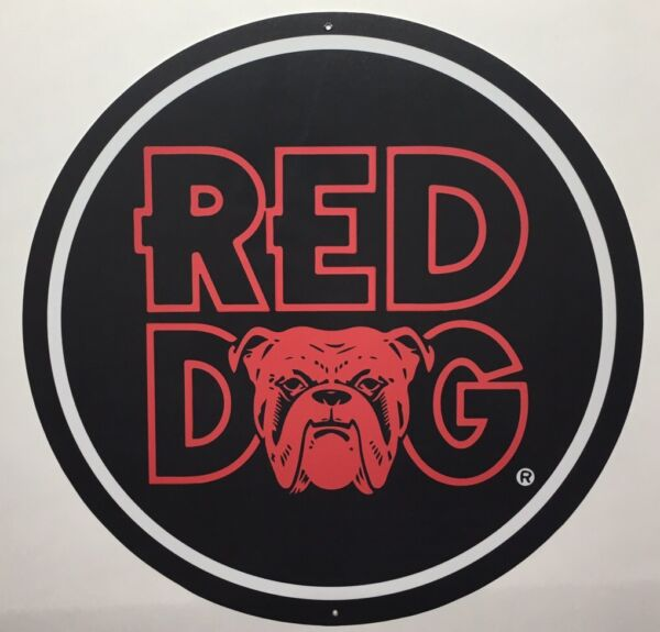 Red Dog 12quot; Metal Sign $17.99