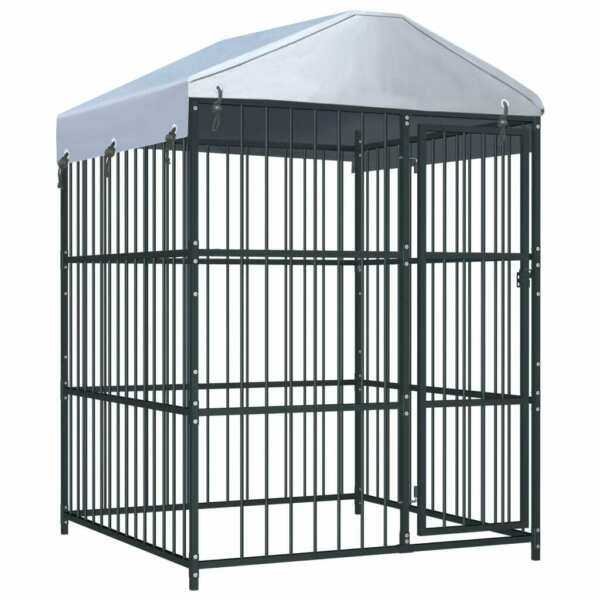 Outdoor XXL Large Dog Kennel Pet Crates House Cage 59.1quot;x59.1quot;x82.7quot; Heavy Duty $634.99
