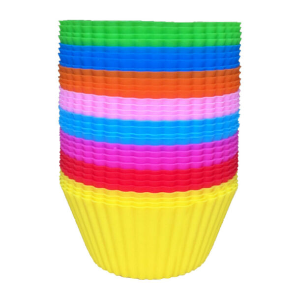 6 12 24Pcs Silicone Cake Muffin Chocolate Cupcake Liner Baking Cup Cookie Mold