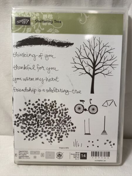 NEW Stampin#x27; Up SHELTERING TREE Photopolymer Stamp Set All Season All Occasion