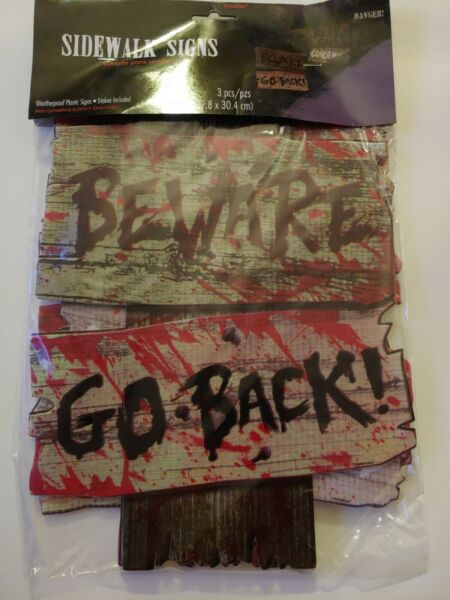 Beware Signs Yard Stakes 3 Ct. Brown 12quot; x 9quot; $9.99