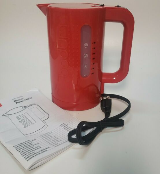 bodum bistro electric water 34 OZ kettle 11452 Red New without Box $19.99