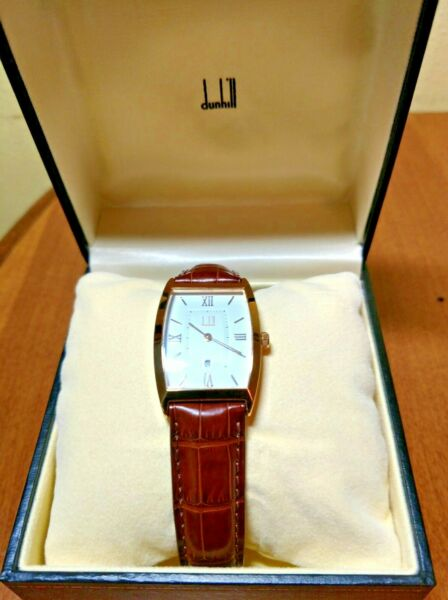 Alfred Dunhill Vintage Watch Excellent Condition w Original Box Case Manual $150.00