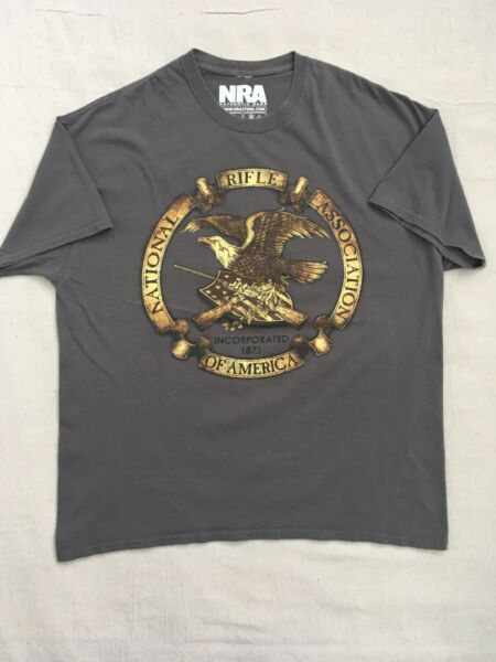 NRA T Shirt Eagle Incorporated 1871 Authentic National Rifle Association XL $14.99