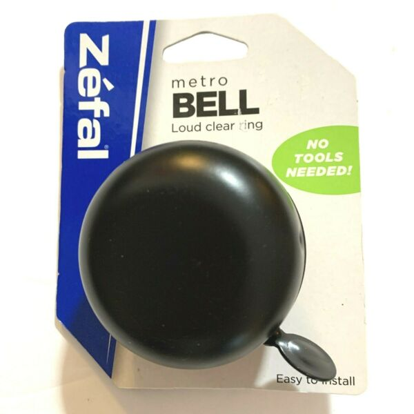 Bicycle Bell Loud Clear Ring Black Zefal Metro Black Bell Bike Accessories New $7.95