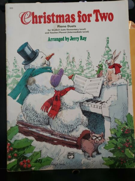 Christmas For Two Piano Duets Alfred by Jerry Ray Late Elementary Level $6.99