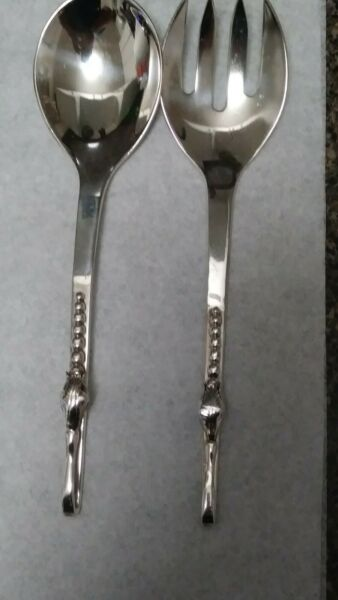 Serving Fork And Spoon Sterlin Silver by Sanborns. México