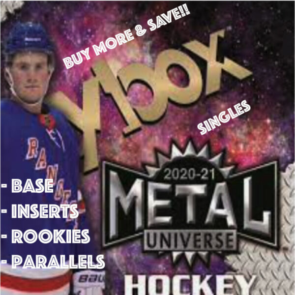 2020 21 Upper Deck Metal Universe Hockey Base Parallels Inserts Rookies You Pick