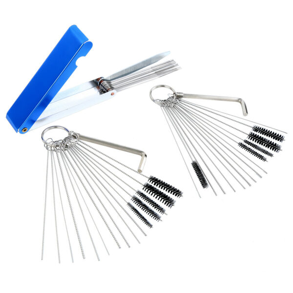 45pcs Carburetor Carb Cleaning Tool Brush Needles Wire Kit For Motorcycle ATV $10.35