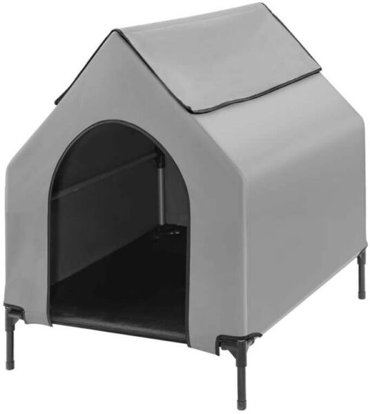 Fit Choice Gray Elevated Dog House Portable Dog House Crate for Indoor amp; Outdoor $42.90