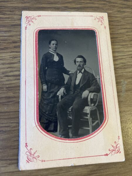 Antique Cabinet Card Photo Man and woman DIY Mount Studio unknown $12.99