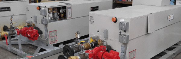 LOCHINVAR CBN2067 NATURAL GAS BOILER W BUILT ON SKID amp; PIPED FOR FAST INSTALL $7500.00