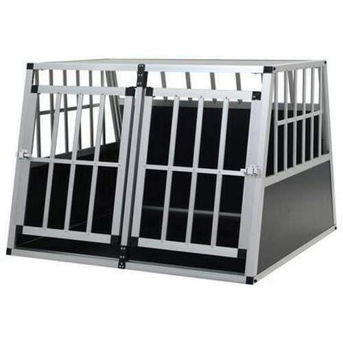 Pet Transport Crate Large Twin Carrier Heavy Duty Dog Cages Car Vehicle Travel $404.57