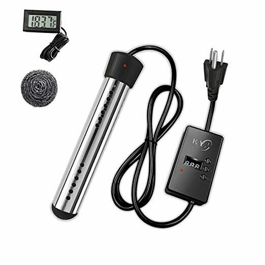 Immersion Water Heater 1500W Bucket Heater with Stainless Steel Guard Smart $44.02