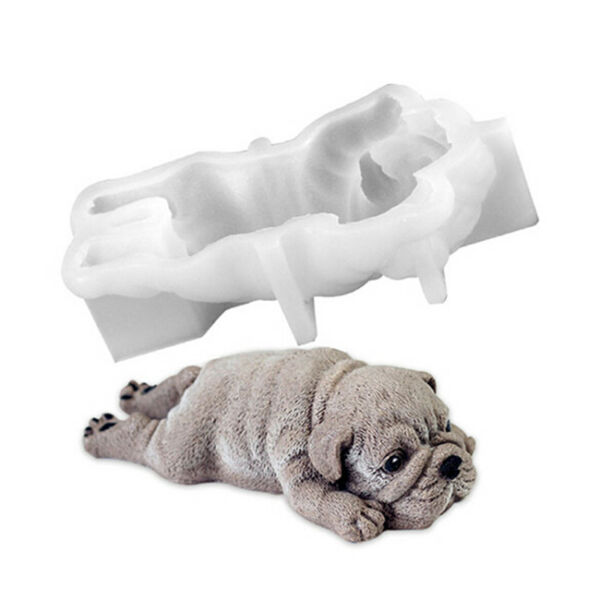 Silicone Cute Dog DIY Mould Candy Cookies Chocolate Baking Tool Cake Decor Shan $9.09