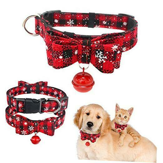 Christmas Dog CollarClassic Plaid Snowflake Pattern Dog Large Pack of 1 Red $18.21