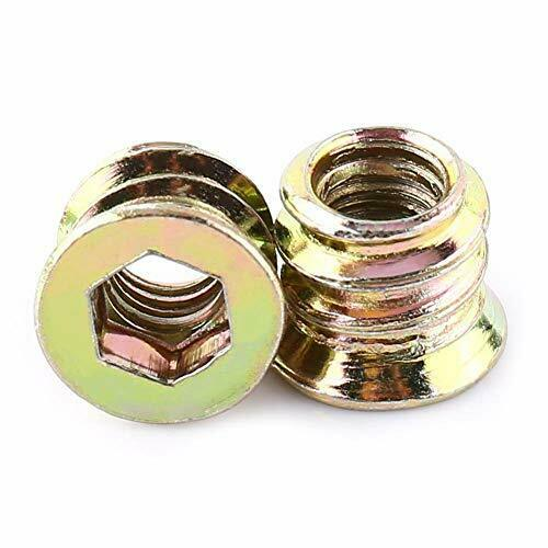 20PCS Zinc Plated Hex Drive Threaded Wood Inserts Threaded Insert Nuts for Wo... $16.40