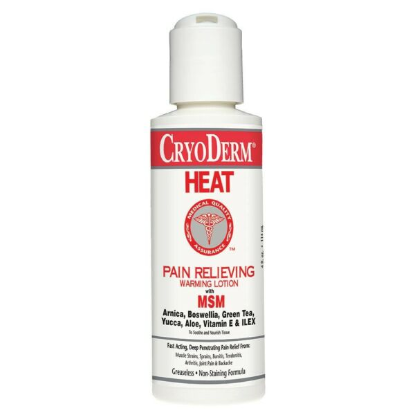 Cryoderm Heat 4 Oz. Bottle Pain Relieving Warming Lotion $12.99