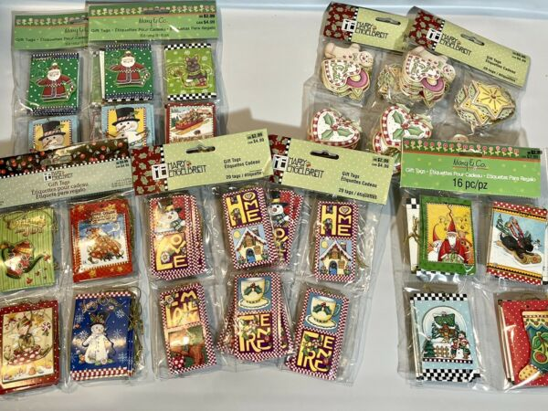Huge Lot Mary Engelbreit Gift Tags Christmas Scottie Dog HOME Total Of 144 Tags $59.99