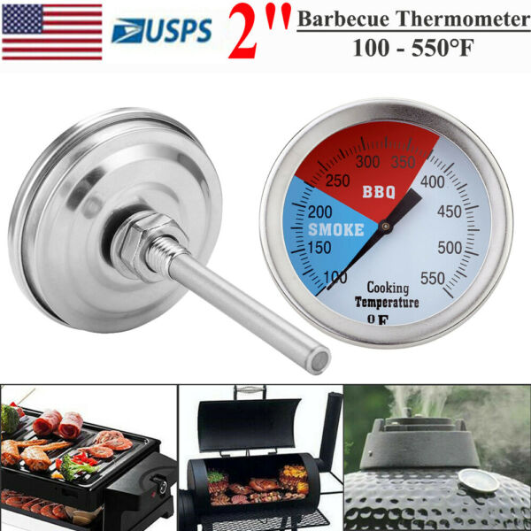 2quot; Barbecue Thermometer Oven Pit Temperature Gauge BBQ Smoker Grill 100 550℉