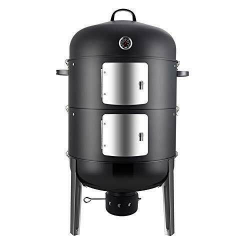 Realcook Charcoal BBQ Smoker Grill 20 Inch Vertical Smoker for Outdoor Cook...