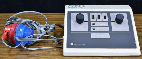 MAICO MA25 PORTABLE AUDIOMETER HEARING TESTER PLUS AC ADAPTER 90 DAY WARRANTY