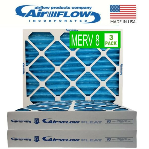 20x20x4quot; Air Filters MERV 8 Pleated Home HVAC A C Furnace 6 pack New In Box $64.89