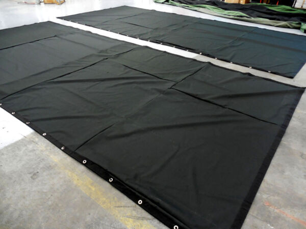 IN STOCK: Black Stage Curtain 12#x27;H x 11#x27;W 20% OFF horizontal amp; vertical seams $118.00