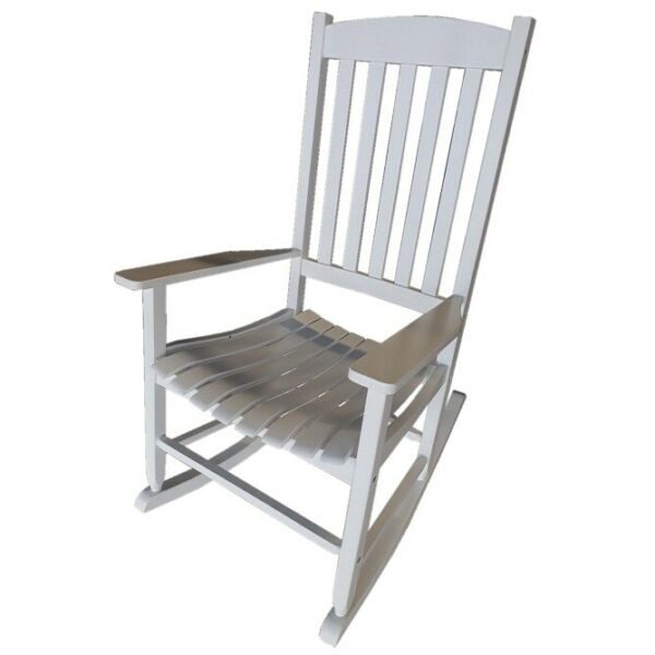 Mainstays Outdoor Wood Porch Rocking Chair Weather Resistant Finish White $87.99