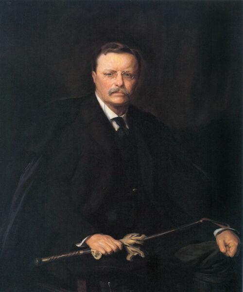 THEODORE ROOSEVELT AMERICAN PRESIDENT PORTRAIT USA PAINTING REPRO