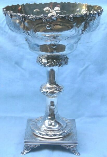 Wood & Hughes American Coin Silver Large CenterPiece Bowl  MAGNIFICENT