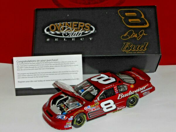 Dale Earnhardt Jr Motorsports Authentics RCCA 2007 Budweiser #02836 Owners Club