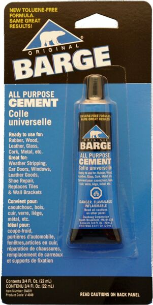 Barge All Purpose Cement Leather Rubber Wood Glass Glue 3 4 oz 22ml $7.99