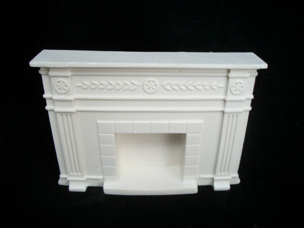 Fireplace small Colonial UMF20 plaster amp; resin dollhouse miniature 1 12 scale