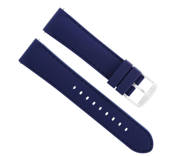 20MM RUBBER DIVER BAND STRAP FOR 41MM OMEGA SEAMASTER PLANET OCEAN WATCH BLUE