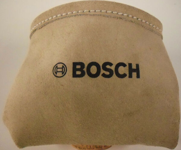 BOSCH Heavy Duty Beige Suede Leather Nail amp; Small Tools Pouch BO 039 CN