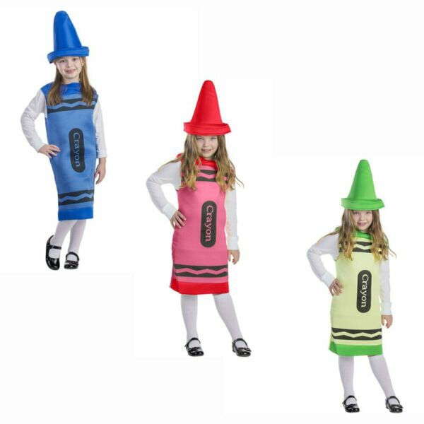 Crayon Costume For Kids Crayola Tunic For Girls And Boys By Dress Up America $19.95