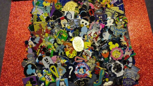 DISNEY PIN 200+2 PINS FREE MIXED LOT FASTEST SHIP 2 USA 125-150 DIFFERENT WOW
