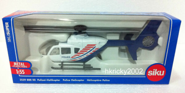 Siku 2539 888 00 Eurocopter EC135 Airbus Helicopters H135 Police Helicopter