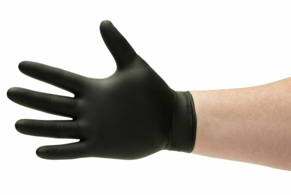 Nitrile Disposable Gloves Powder Free Non-Latex Black S, M, L, XL