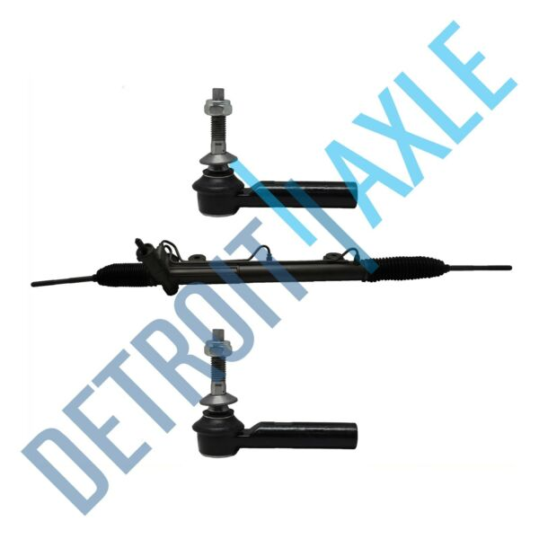 3 pc Set: Power Steering Rack and Pinion Assembly 2 Outer Tie Rod Ends $168.15
