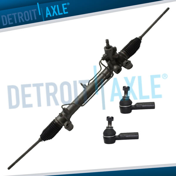 3pc Set: Power Steering Rack and Pinion Assembly 2 Outer Tie Rod Ends $109.25