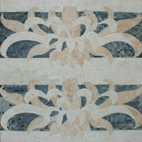 Art Tile Stone Floral Decor Abstract Flowers Marble Mosaic GEO1978