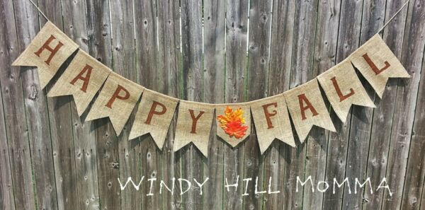 Happy Fall Burlap Banner fall decoration