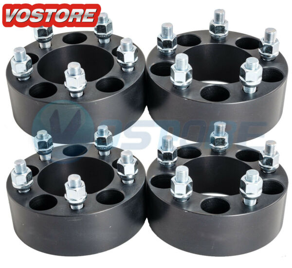 4 2 inch 5x4.5 Black Wheel Spacers Adapters fits Ford Mustang Ranger Explorer