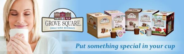 GROVE SQUARE CAPPUCCINO & HOT COCOA CHOCOLATE FOR KEURIG 2.0 K CUPS 24 Count Box