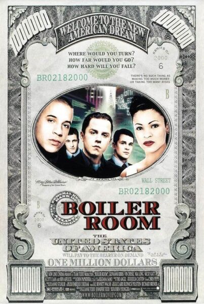 BOILER ROOM MOVIE POSTER 1 Sided ORIGINAL 27x40 GIOVANNI RIBISI VIN DIESEL