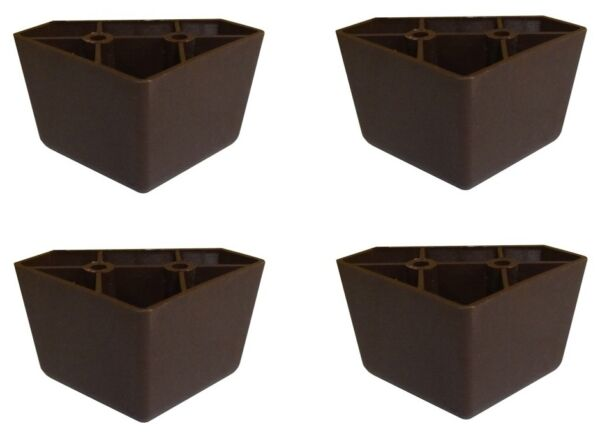 Set of 4 Universal Dark Brown Plastic Furniture Triangle Legs Sofa Couch Chair $9.95